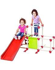 Devessport | Climb Olympus - Li'l Monkey | Parque infantil para niños con tobogan | Juguetes al aire libre | Escalar, balancear, esconderse, subir a las barras, tobogan | Juegos de agilidad