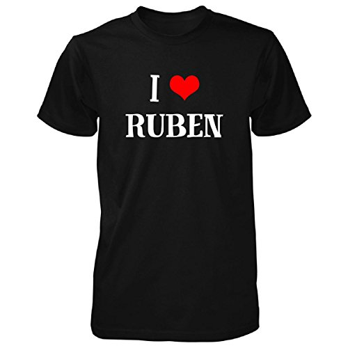 I Love Ruben Unisex Tshirt Black M (Rubens Unisex)