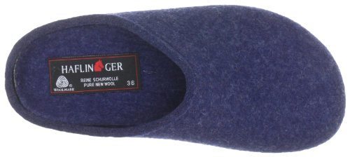 Haflinger Grizzly Michl 711033 Damen Hausschuhe Blau (jeans 272)