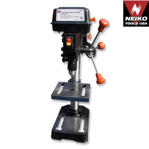 Mini Drill Press W/laser 5 Speed 8'' Professional Drill Press by Neiko