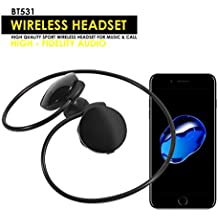 GBSELL BT531 Wireless Bluetooth 3.0 Stereo Sports Hands-free Headphone Volume control,with Mic For iphone 7 Samsung Galaxy S7 and Android Phones