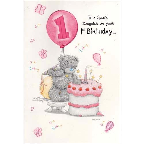 Me To You Tatty Teddy Daughter 1st Birthday Card Amazon Toys