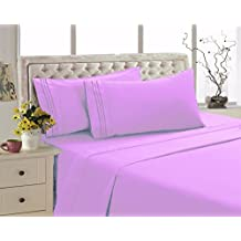 2800 Series Eco Friendly Egyptian Comfort Bamboo Style Collection Bedding 4 Piece Sheet Set (Pink, Queen)