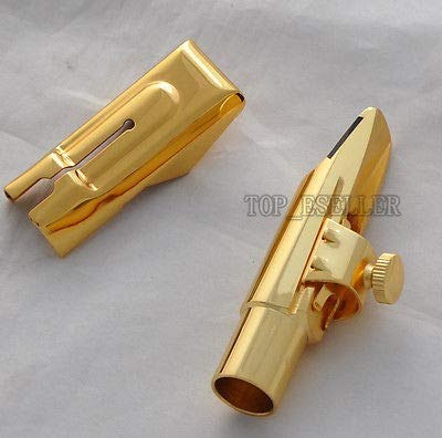 FidgetGear Newest Metal Mouthpiece for Alto Saxophone Eb sax Gold Plated 7#