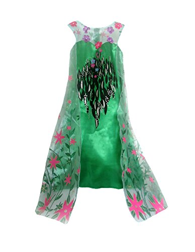 American Vogue ANNA ELSA FROZEN FEVER Girl's Birthday Dress Costume (7-8 Years, Amazon (Todler Costumes)