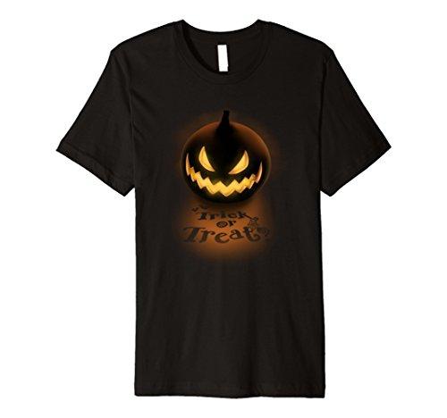 Mens Scary Pumpkin Trick Or Treat Halloween T-Shirt