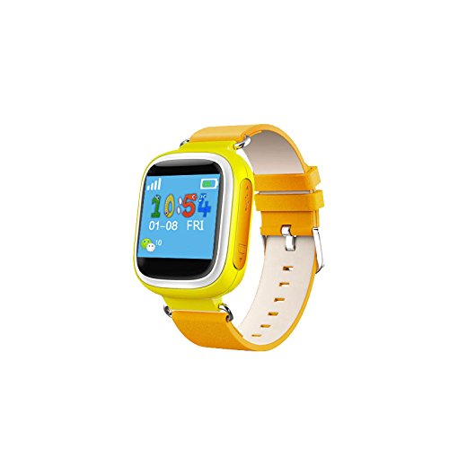 GPS Kids Tracker Smart Watch LY ANT Waterproof Smartwatch Phone with Anti-lost Alarm Remote Monitor SOS Calls Support Android IOS (Yellow)