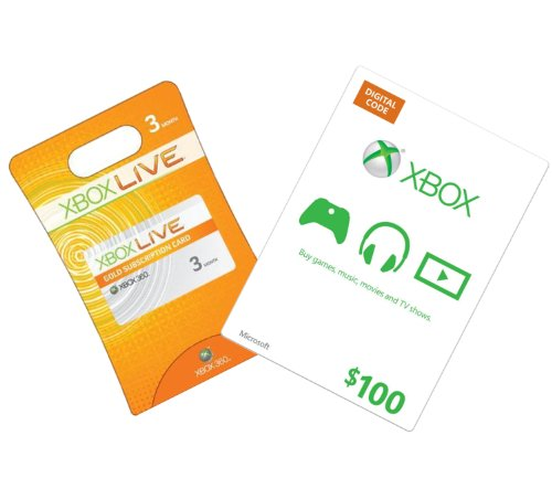 Xbox Live 3-Month Gold + $100 Xbox Gift Card - Xbox 360 Digital Code