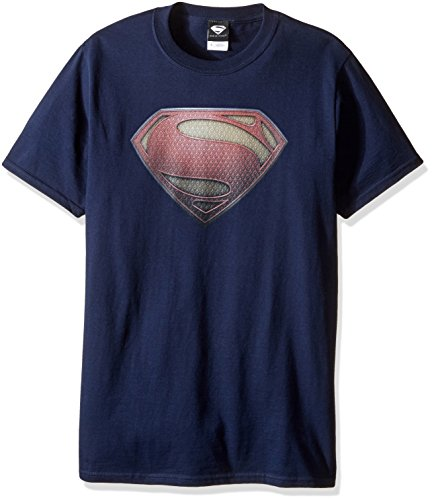 DC Comics Men's Superman Man of Steel Shield T-Shirt