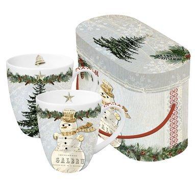 Juego de 2 Tazas de cafe con asa a juego con caja regalo Decoracion  Navide ñ ... bb9108ca8cb0