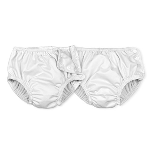 i play.. Toddler Reusable Absorbent Swim Diaper, White, 4T (Pack of 2) by i play.