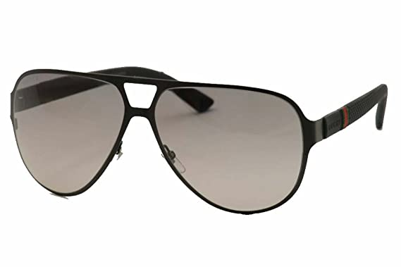 gucci sunglasses 2252 frame semi matte black lens gray gradient