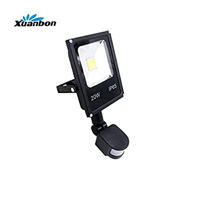 Cold white 6000k, 20W cob type : Ultrathin 10W 20W 30W 50W LED Flood light With PIR Motion Sensor Detector waterproof Spotlight Outdoor IP65 Floodlight