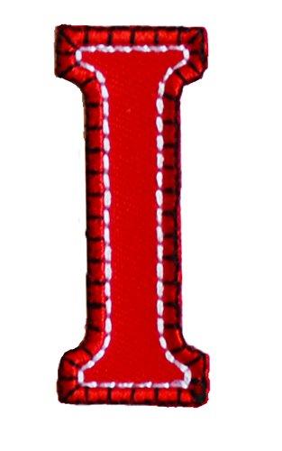 A maiuscolo 5cm rojo azul Regalo Para De Los Niños Por Su Nombre Planchado Personalizar para repararplacapañuelobanderabolsillo ropachaquetaalmohada bolsarocabanderínmochilatecho pañuelopantalonescamisa portabufanda vaqueros personalizar rega