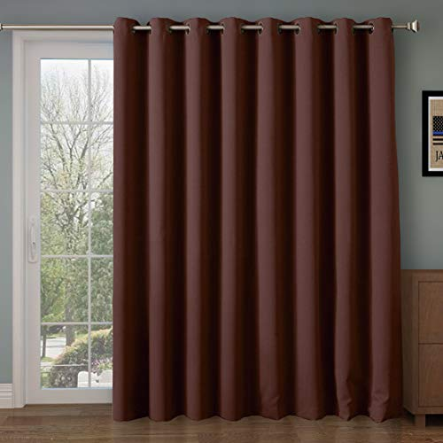Rose Home Fashion Room Divider Curtain,Blackout&Thermal&Thick 108 inches Long Curtain,Extra Long and Wider Curtain,9 feet Blackout Curtains,Over Sizes Curtains(100 by 108 Inches(8.5'x9')-Chocolate) ()