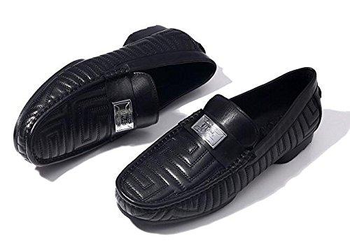 Happyshop (tm) Nieuwe Lederen Slip Op Penny Loafer Heren Autoschoenen Zakelijke Schoenen Zwart