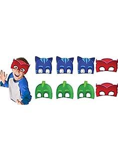 PJ Masks Paper Masks (16 Count) Party Supply for 16 Kids. Kids Love