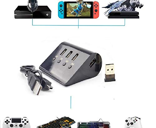 Keyboard and Mouse Adapter for PS4 PS3 X1 Switch PlayStation 4 Pro Xbox one,Wireless Gaming Mouse Joypad Joystick Adapter Converter Plug and Play Best Gift for Male Gamer