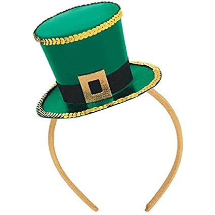 Amazon.com  Amscan Mens St. Patrick s Day Top Hat Fascinator - One ... 5b385c37891b