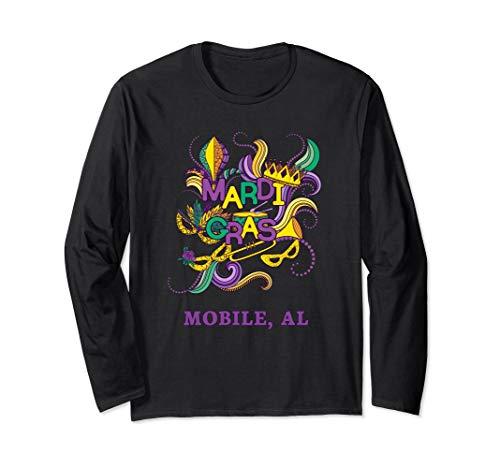 Mardi Gras Parade Carnival Mobile Alabama Long Sleeve Shirt ()