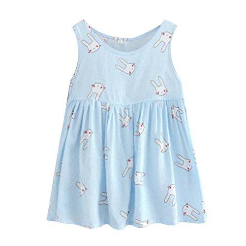 Koala Superstore Sleeveless Cotton Dress Vest Skirt for Girls Home Nightdress Kids' Pajama [D] by Koala Superstore