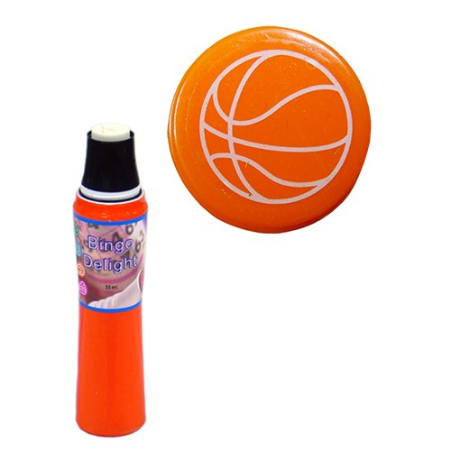 Bingo Delight Orange Basket Ball Bingo Dauber 2 Ounce Dauber