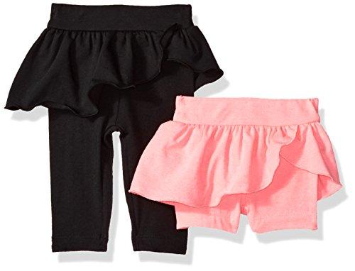 Gerber Baby Girls Legging and Bike Short Bundle, Pink/Black, 0-3 Months