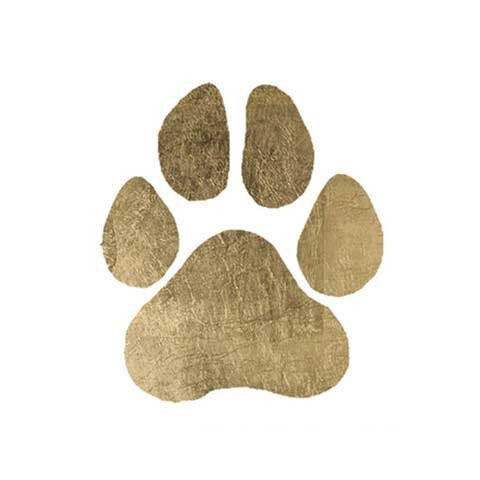 Original Fashiontats Metallic Gold Jewelry Temporary Tattoos - Paw - Temporary Pride Tattoos