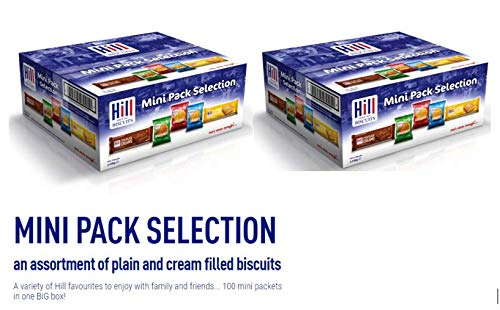 Hill Biscuits Mini Packs 2 Boxes (Each Containing 100 x 3-Packs) 200 Packs in total!