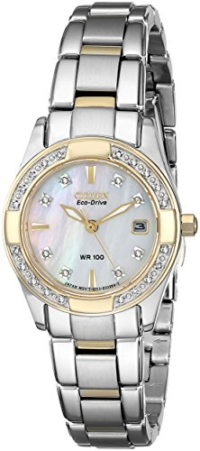 Citizen Women's Eco-Drive Diamond-Accented Watch with Date, EW1824-57D (Citizen Drive Eco Ladies Watch)