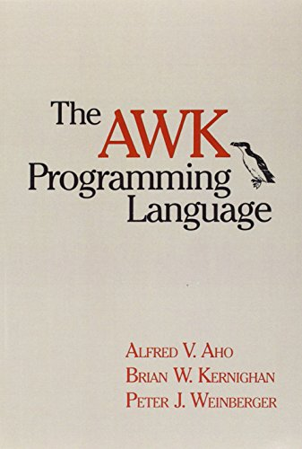 The AWK Programming Language by Pearson