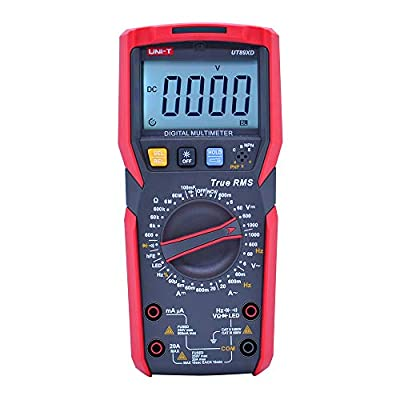 UNI-T UT89XD True RMS digital multimeter tester ac dc Voltmeter Ammeter 1000V 20A 100mF Capacitance Frequency Resistance tester with LED testing backlight and flashlight