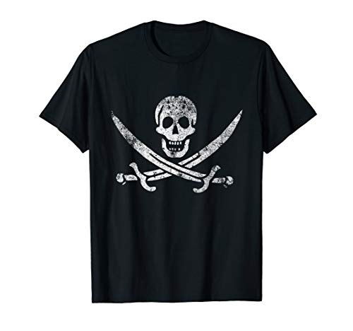 Pirate Jack Jolly Roger Flag Vintage Distressed T-Shirt
