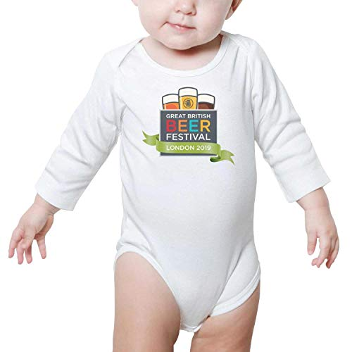 PoPBelle Great American Beer Festival London 2019 Baby Onesie White Clothing Long Sleeve Organic Cotton -