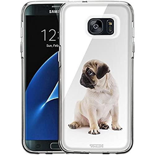 Samsung Galaxy S7 Edge Case, Snap On Cover by Trek Pug One Piece Trans Case Sales