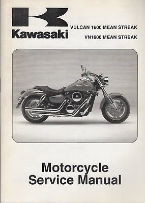 2004-2008 KAWASAKI MOTORCYCLE VULCAN 1600 MEAN STREAK SERVICE MANUAL ()