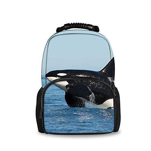 JACINTAN Orca Iller Whale Children School Bookbag Big Capacity Bagpacks