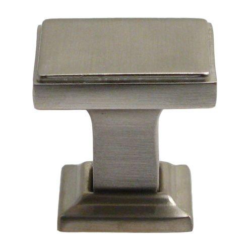Rusticware 991 1-1/8 Inch Square Cabinet Knob, Satin Nickel