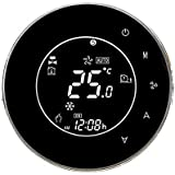TOOGOO Bht-6000-Gclw Water/Gas Boiler Thermostat Backlight Wifi 3A Weekly Programmable Lcd Press Screen Compatible with Alexa Google Home(Black)