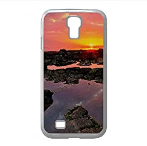 Sunset Landscape Watercolor style Cover Samsung Galaxy S4 I9500 Case (Beach Watercolor style Cover Samsung Galaxy S4 I9500 Case)