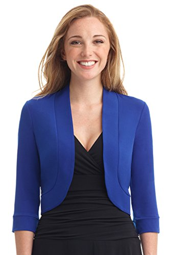 Rekucci Women's Soft Knit Rounded Hem Stretch Bolero Shrug (Shrug Sweater Top)