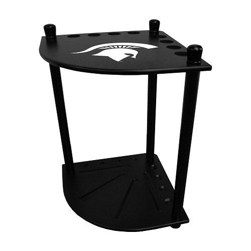 Imperial Michigan State University Corner Cue Rack w/Officially Licensed Logo