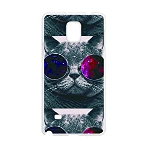 Colorful glasses cat Cell Phone Case for Samsung Galaxy Note4 WANGJING JINDA
