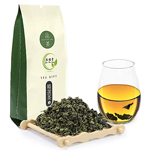 Yan Hou Tang Organic Chinese Green Oolong Tea Anxi Tieguanyin Fujian Classic Iron Goddess of Mercy Tea Loose Leaf for Energizing and Refreshing 100g