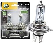 Hella 2.0 High Performance Kit de 2 Focos H4, 9003, HB2, color Blanco Azulada, Paquete de 2