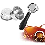 KATH Coffee Filter Cup 51mm Non Pressurized Filter Basket For Breville Delonghi Filter Krups Coffee Products Kitchen Accessories (Color : Silver)