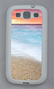 Fire Sunset At Beach TPU Case Cover for Samsung Galaxy S3 I9300 White