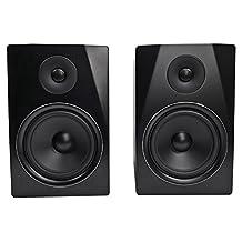 Rockville APM8B 8-Inch 2-Way 500W Active/Powered USB Studio Monitor Speakers Pair
