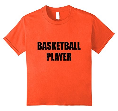 [Kids Basketball Player Halloween Costume Party Cute Funny Shirt 8 Orange] (Girls Basketball Player Costume)