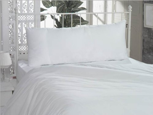 Body Pillowcase Pillow Cover 20 x 54 100 Cotton 300 Thread Count Body Pillow Cover 21 x 60 White